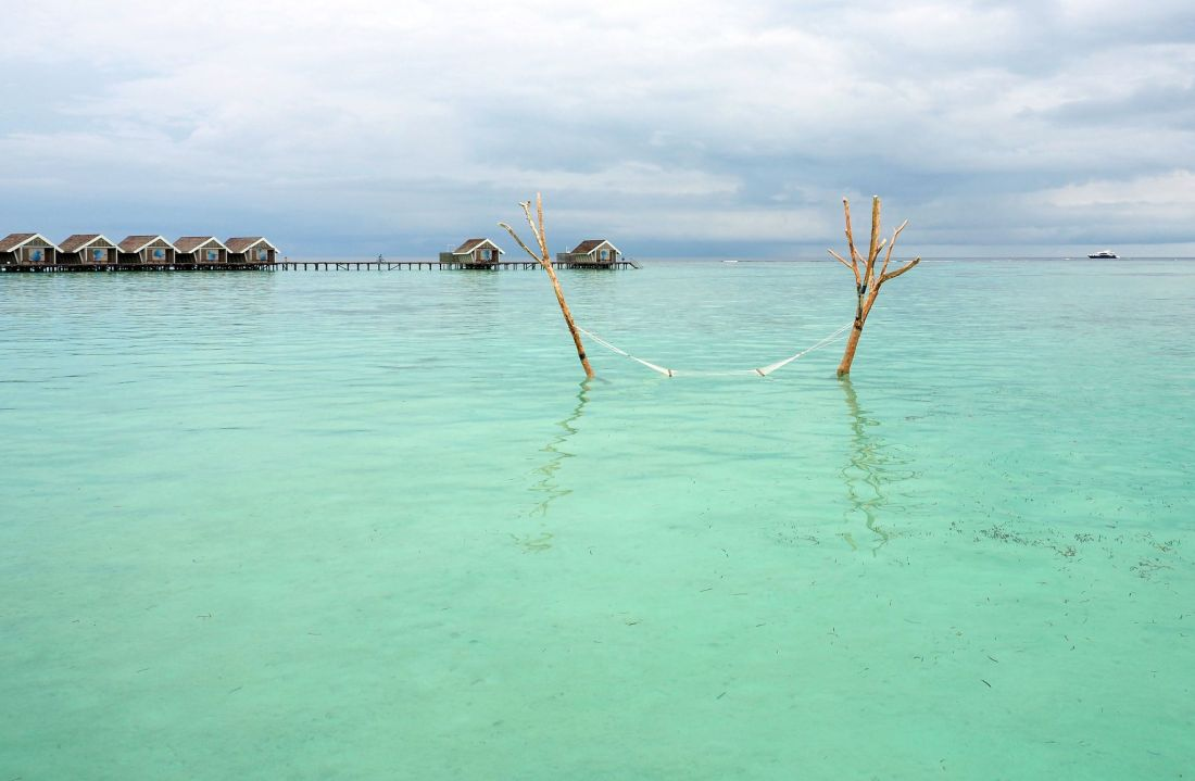 Hammock in water LUX Maldives