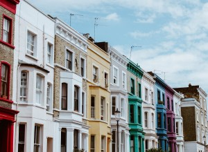 Lancaster Road Colourful Townhouses Notting Hill