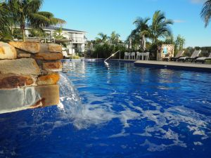 Pool and waterfall Sails Port Macquarie