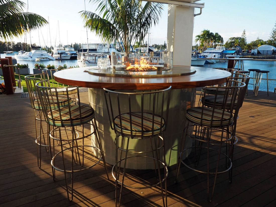 The Boathouse Bar & Restaurant Fire Pit Table