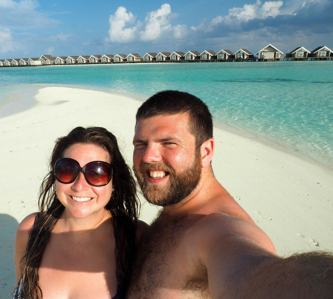 Couple on Honeymoon at LUX Maldives