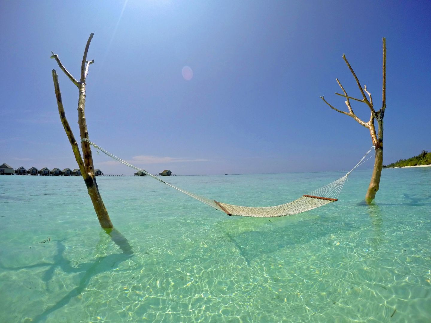 Hammock in water at LUX Maldives