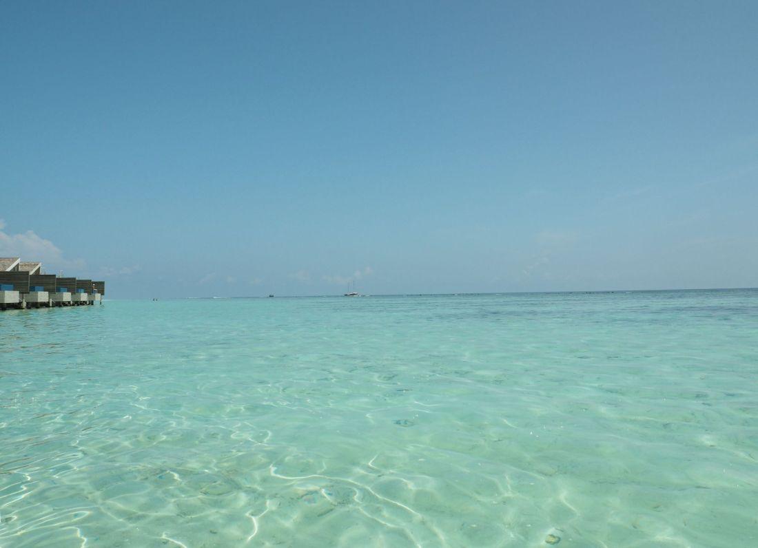Maldives blue sea