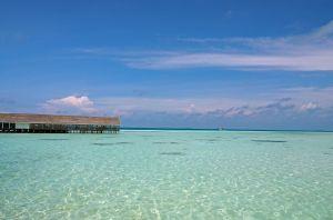Overwater restaurant LUX Maldives