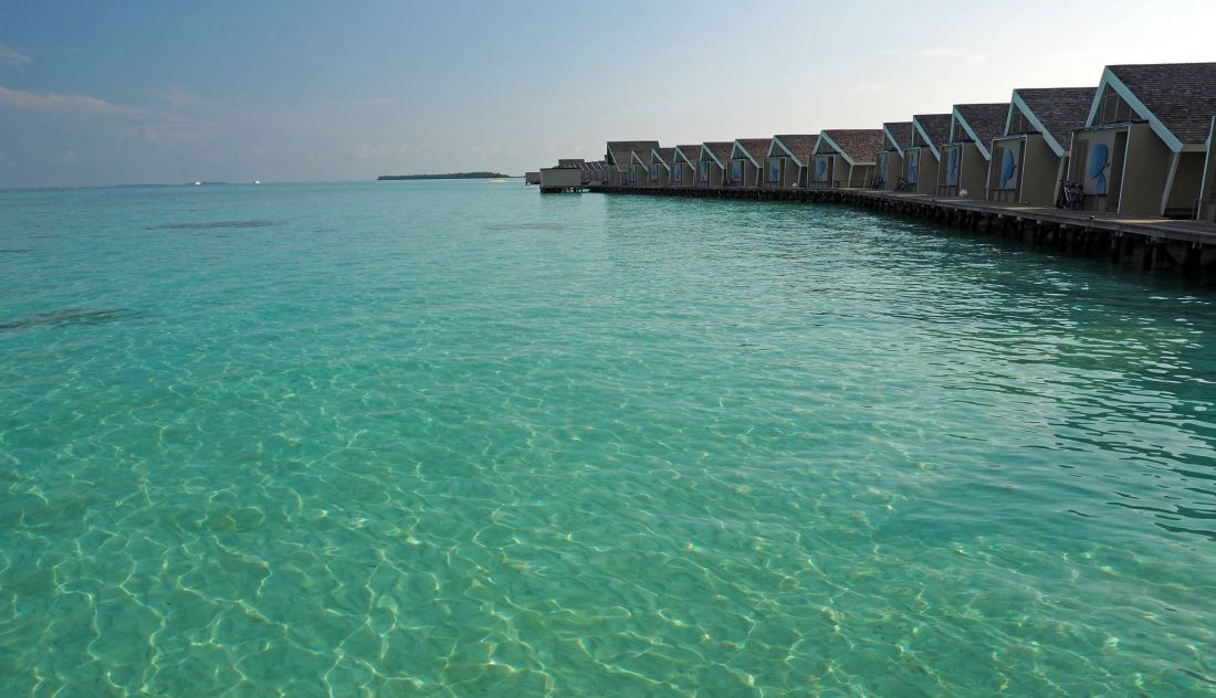 View of water villas LUX Maldives