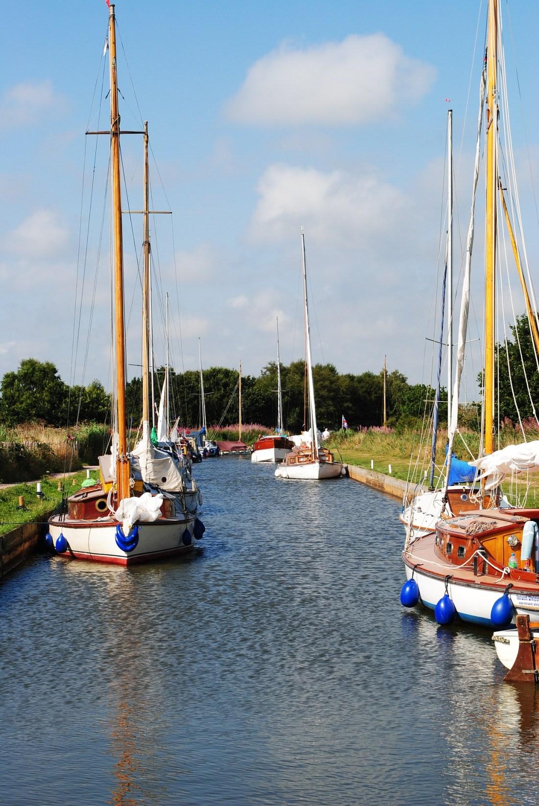 Boats on Norfolk Broads