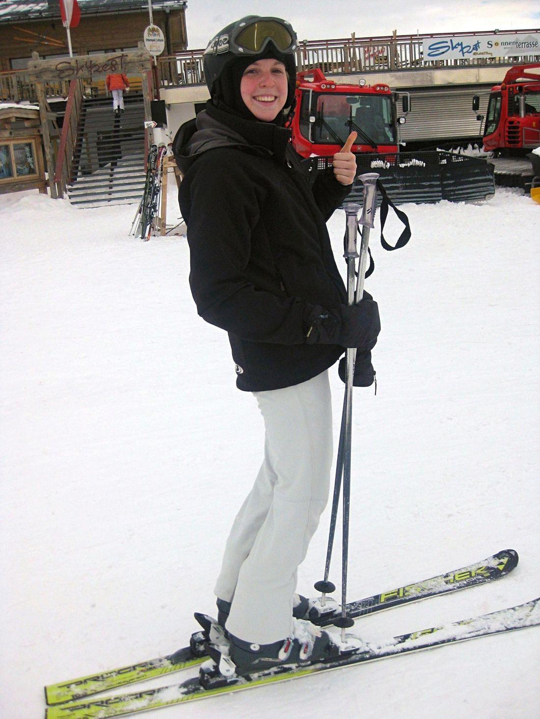 Girl ski Saalbach