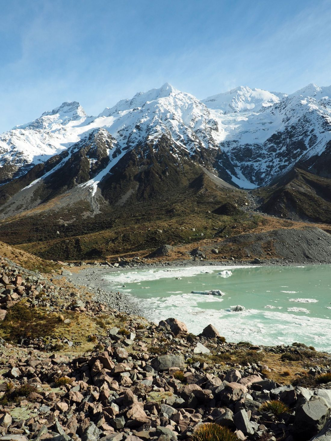 Hooker Valley Track Lake and Mountains