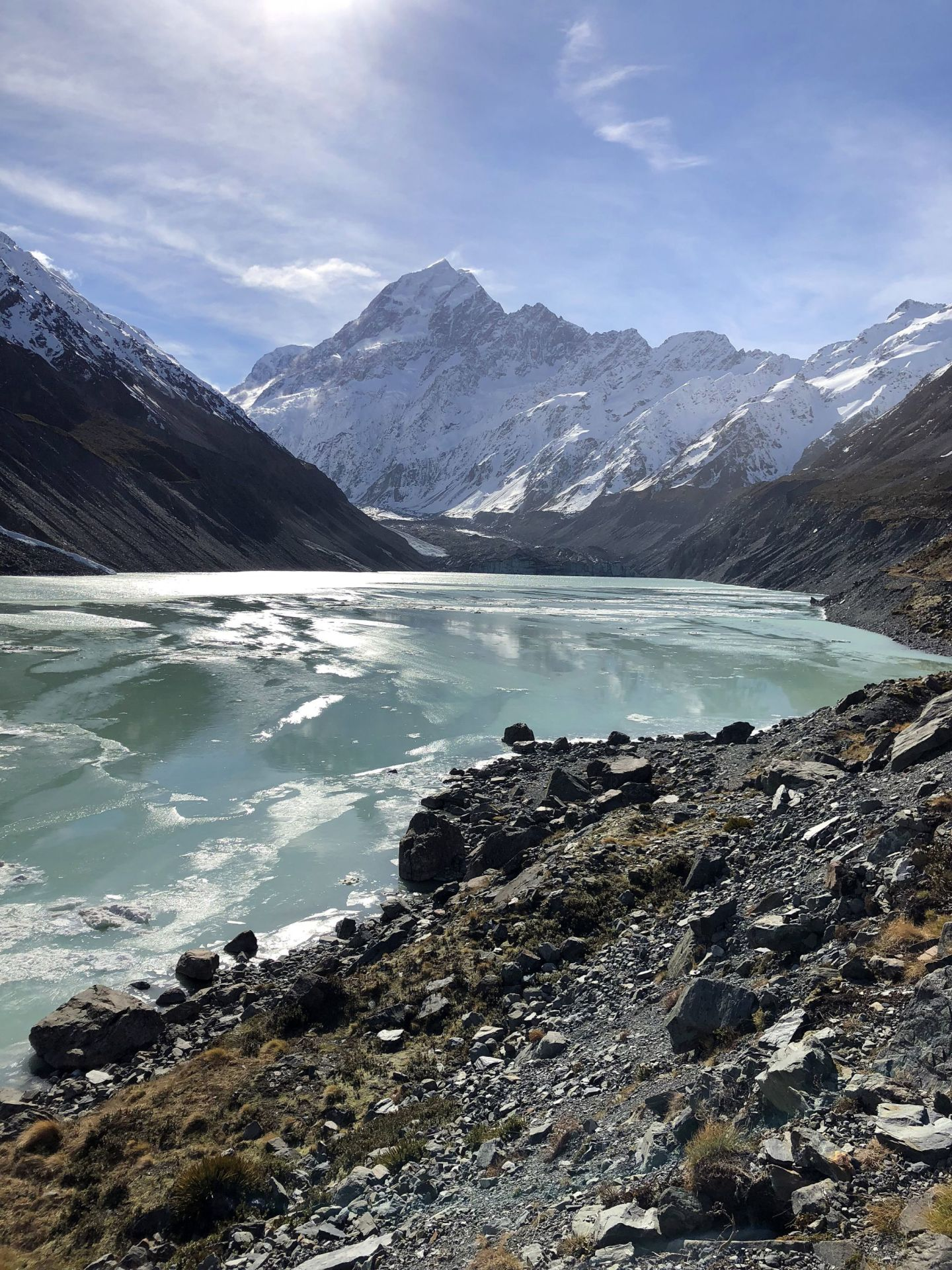 Mount Cook in Hooker Valley