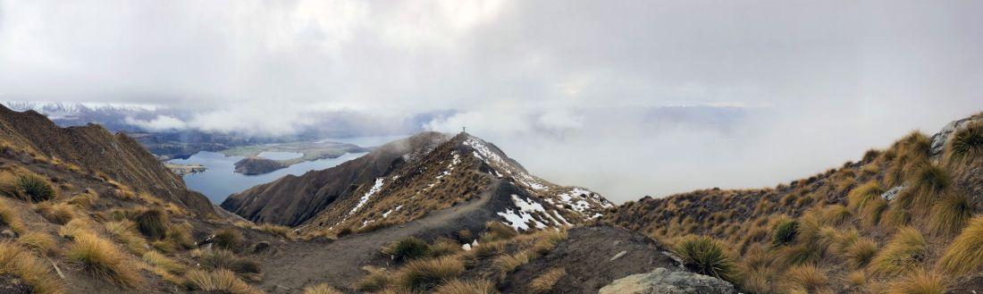 Roys Peak Hike at top