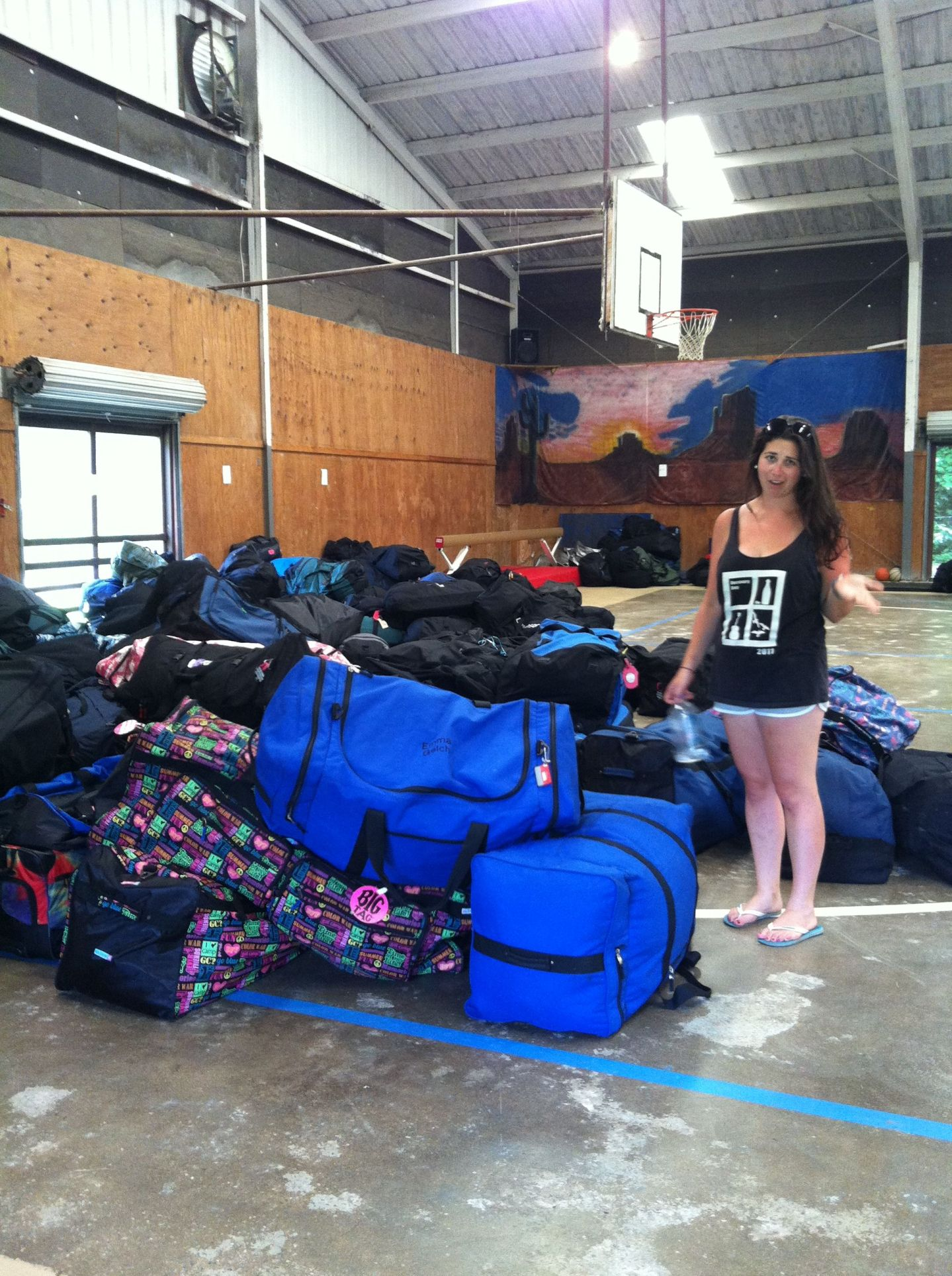 Simone with campers luggage