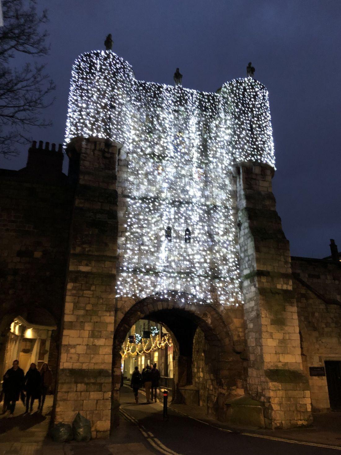 York Gate with Lights