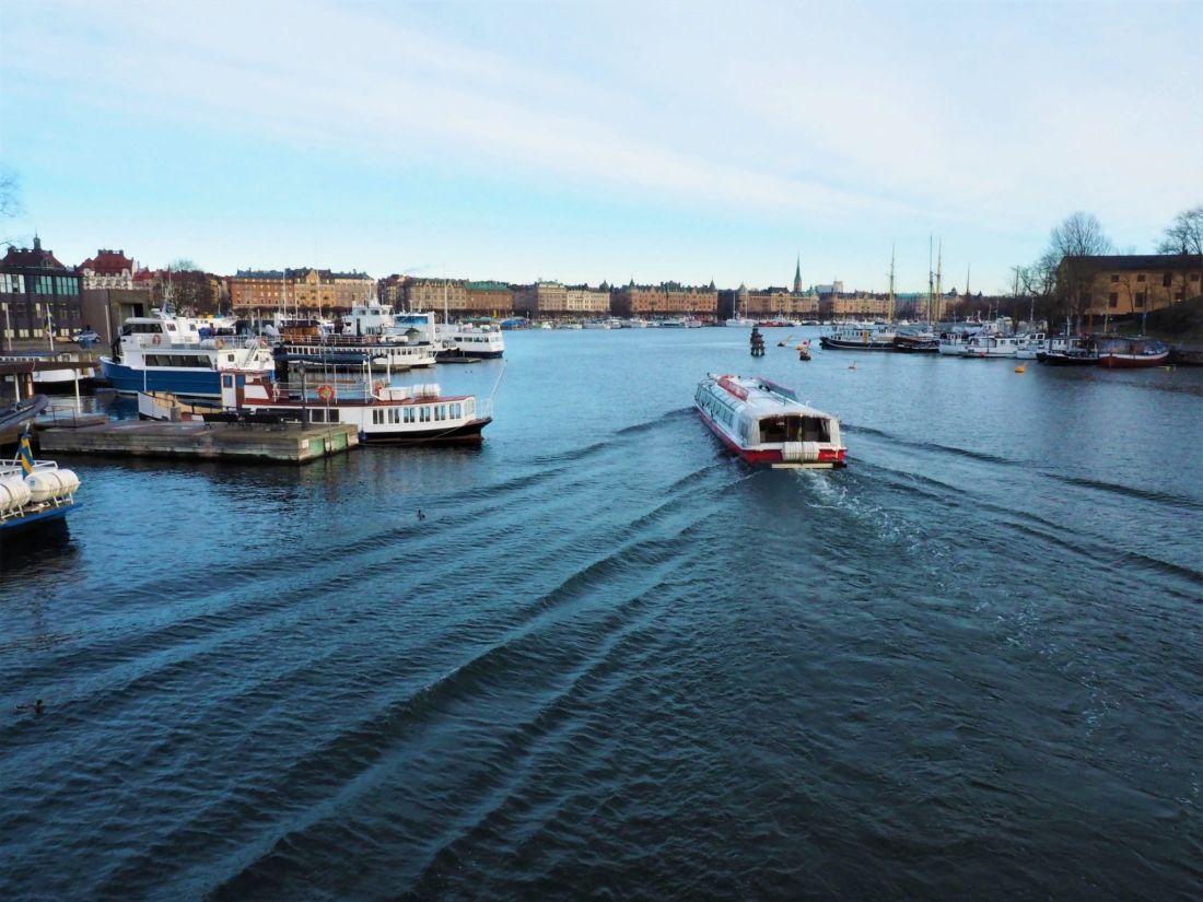 Boat cruising in Stockholm