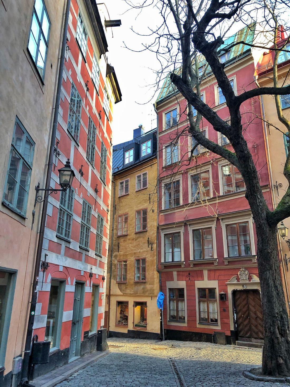 Buildings in Gamla Stan Stockholm