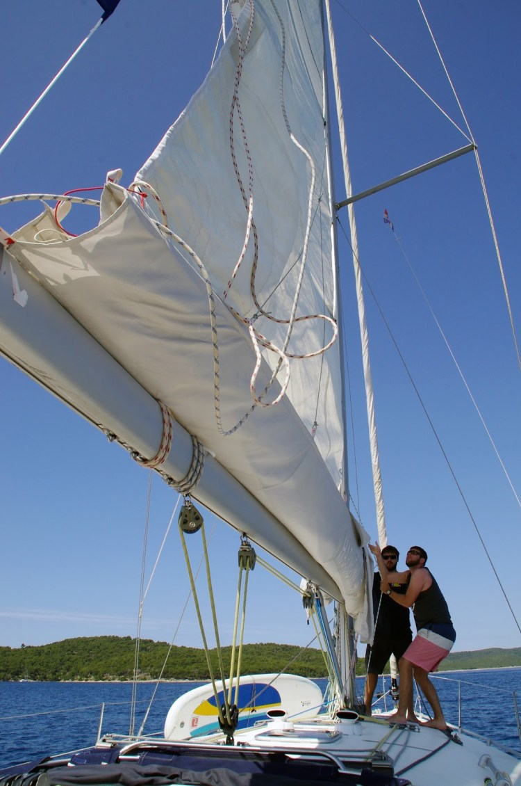 Learning to sail in Croatia