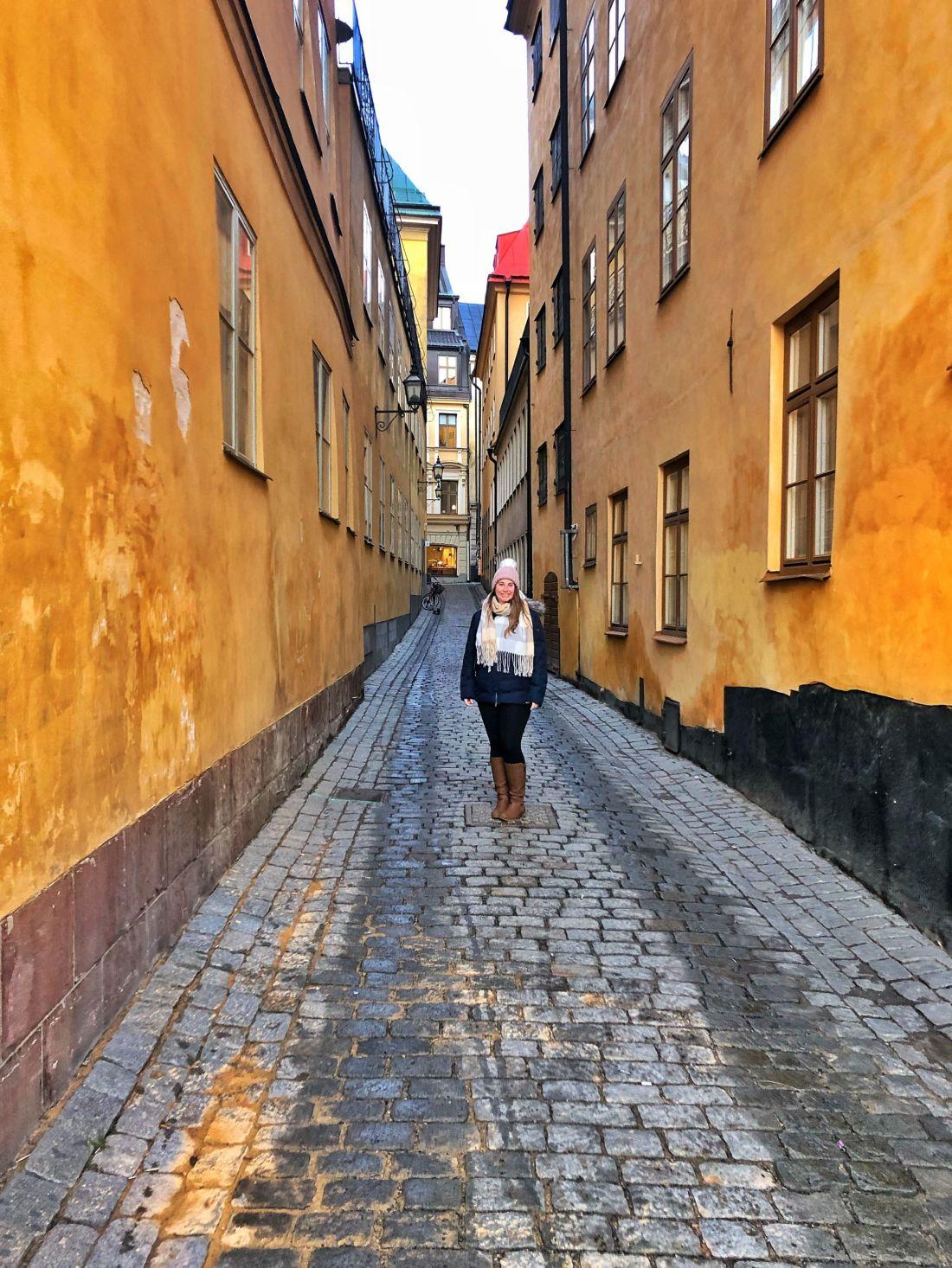 Simone in Gamla Stan Stockholm