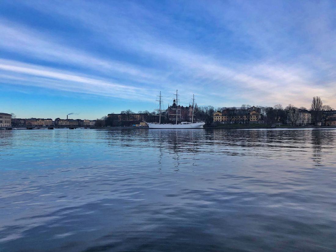 View over water in Stockholm