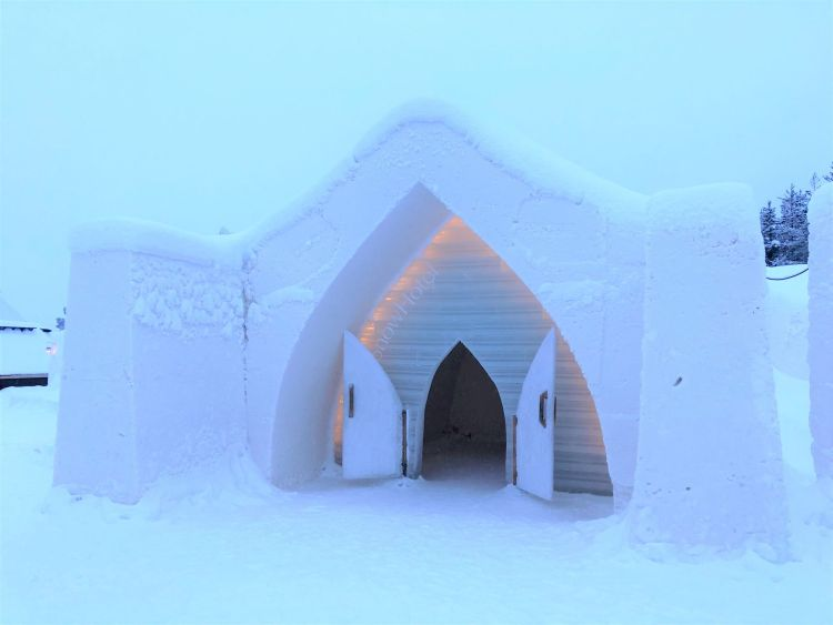 Entrance to Arctic SnowHotel Rovaniemi