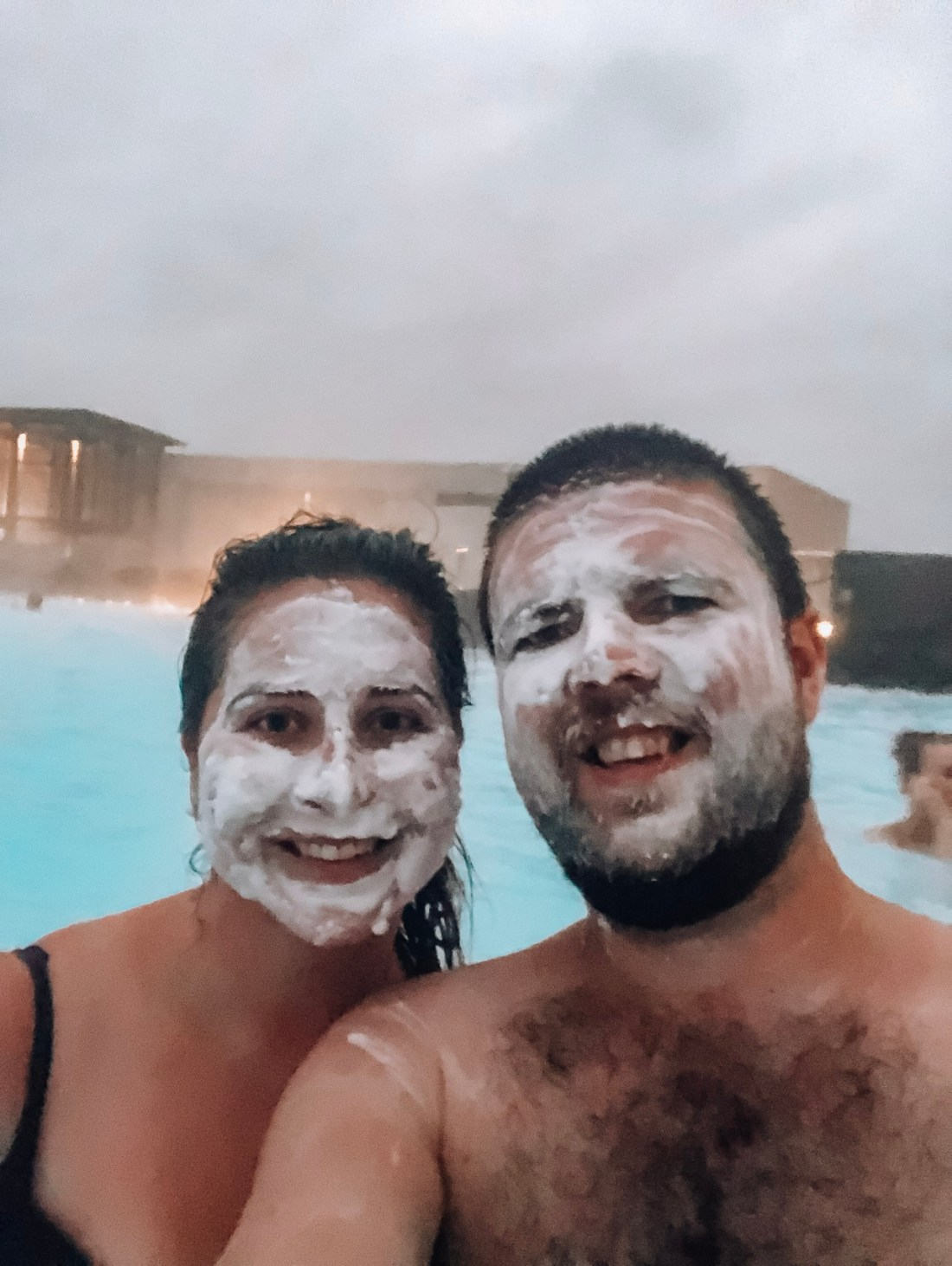 Blue Lagoon with face masks