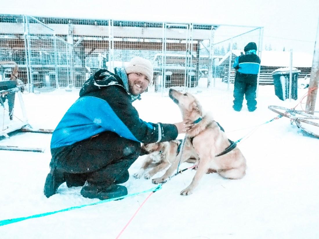 Dan with Huskies at Bearhill Husky