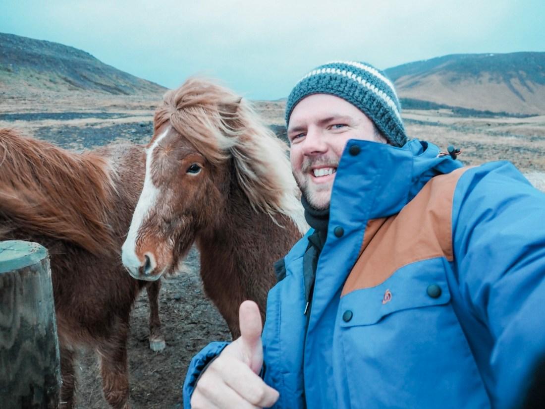 Dan with Icelandic Horses