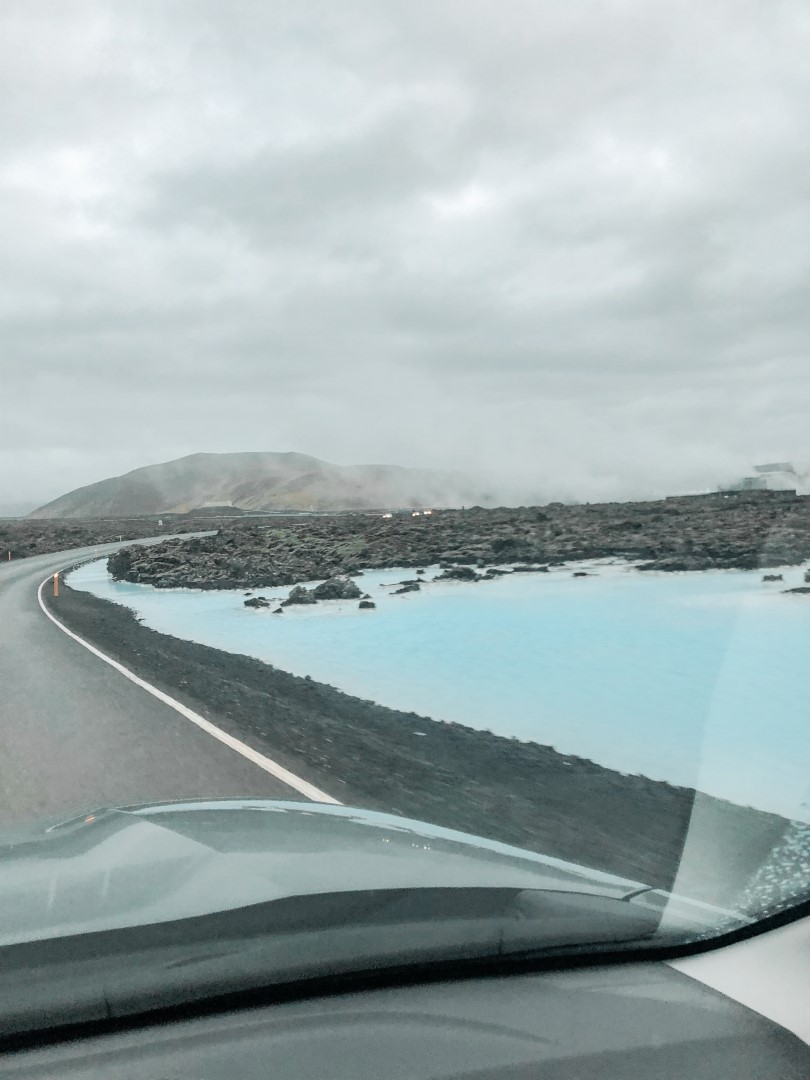 Driving from Blue Lagoon