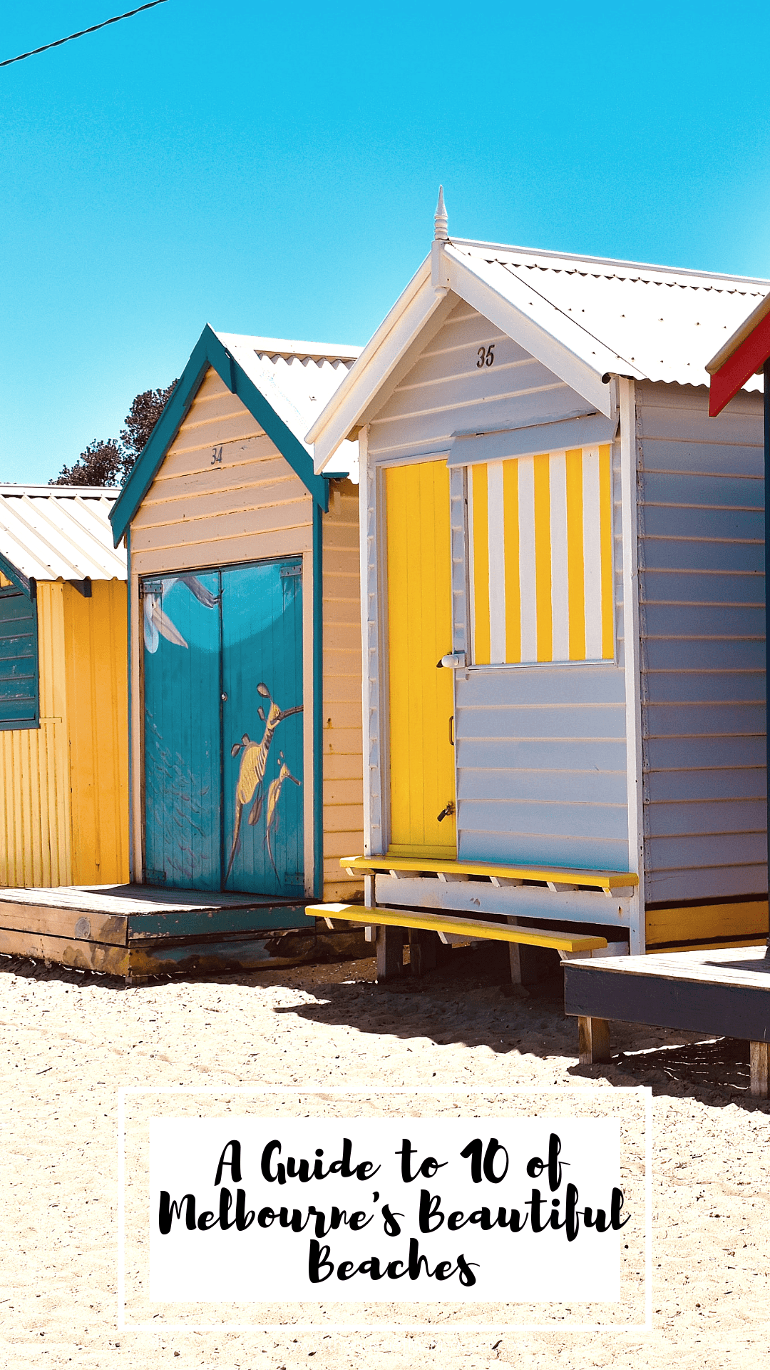 Melbourne's Beautiful Beaches - Brighton Bathing Boxes