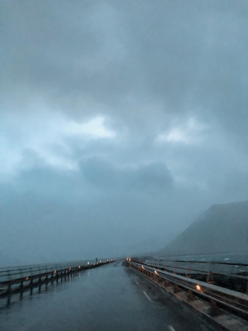 Rainy weather leaving Grundarfjörður