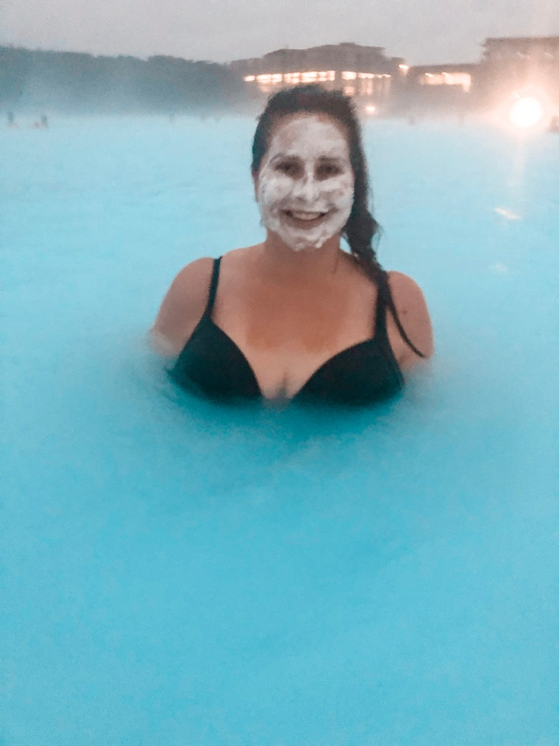 Simone in Blue Lagoon Iceland