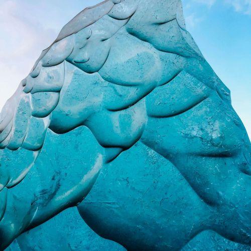 Ice on Glacier Iceland