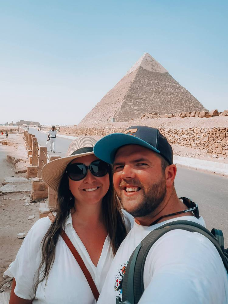 Simone and Dan in Egypt at Pyramids