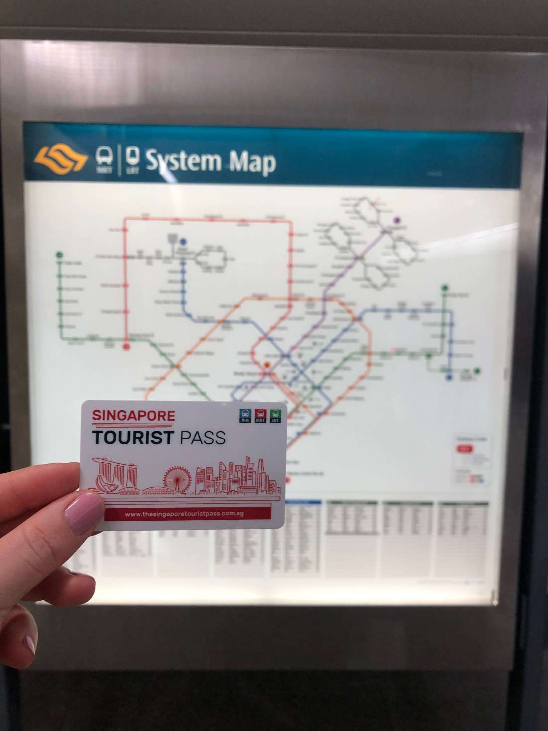 Singapore Tourist Pass & Map