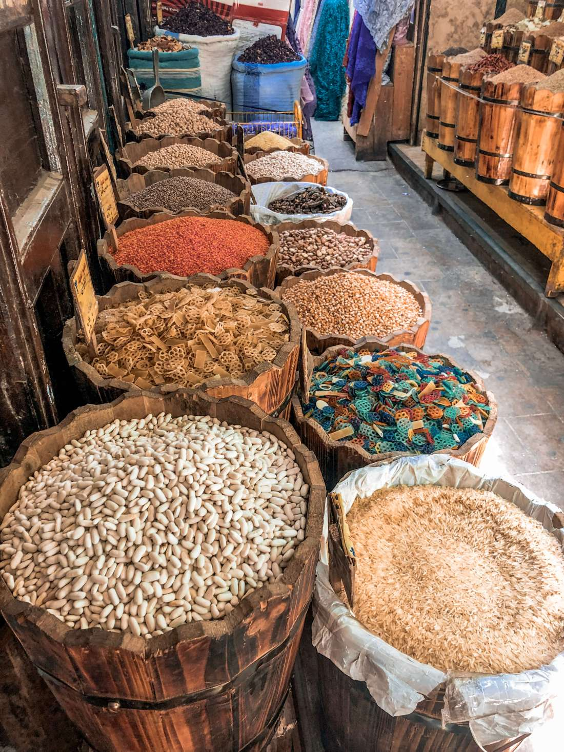Spice shopping in souk Cairo