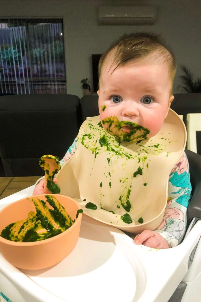 Our First Week of Baby Vegetable-Led Weaning