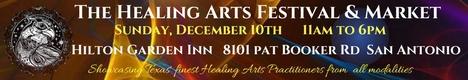 Healing Arts Festival And Market - San Antonio - Dec 2017 banner
