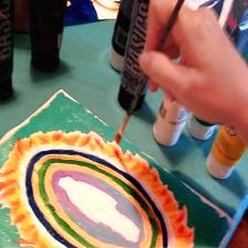 Paint Your Aura Workshop - Melissa Jacobsen - Austin Texas
