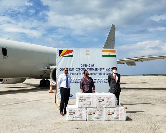 Covidshield vaccines transport Seychelles