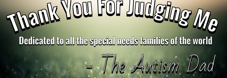 I want to say thank you for judging me……..
