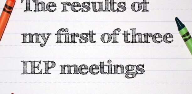 The results of my first of three IEP meetings