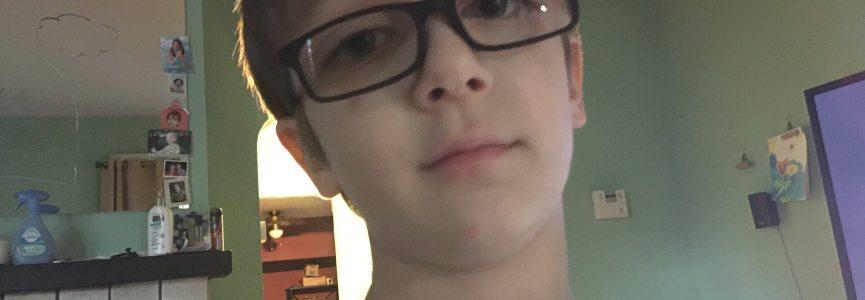 Check out Emmett's new glasses