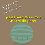 Please keep this in mind when visiting here