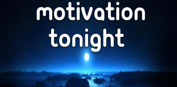 I found some motivation tonight