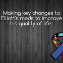 Making key changes to Elliott's meds to improve his quality of life