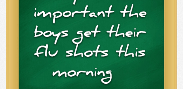 Why it's so important the boys get their flu shots this morning
