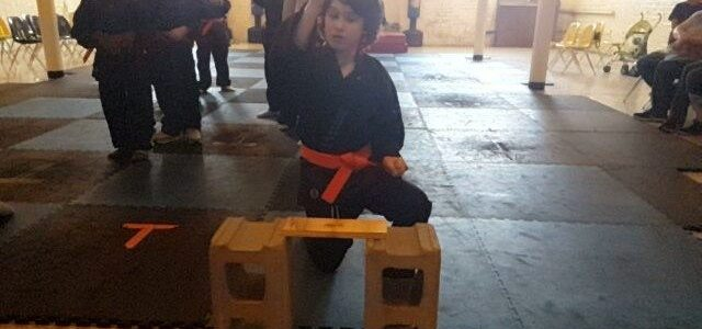 Check out Elliott's Martial Art's Promotion: Breaking Board's and Pushing Through Obstacles