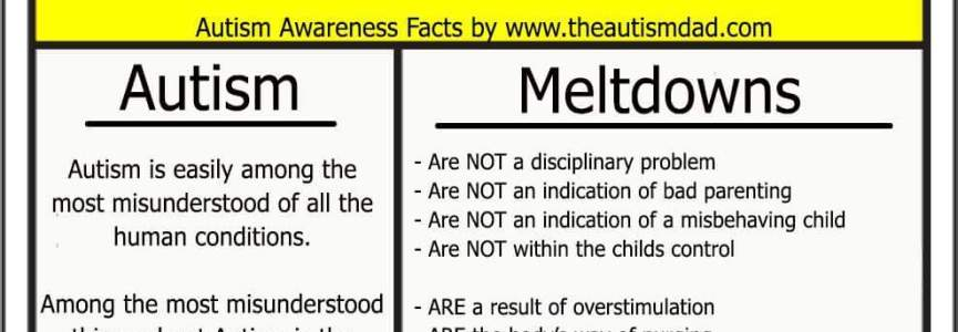 A few basic facts about #Autism and #Meltdowns that everyone should know