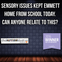 Sensory issues kept Emmett home from school today
