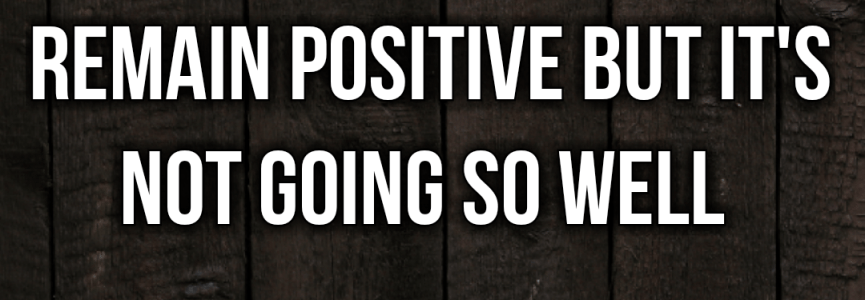 This #Autism Dad is really trying to remain positive but it's not going so well