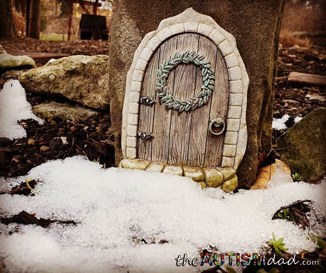 Is this is what they call a fairy door?This is a little tiny door in the side of a stone at the Canton Garden Center. I'm pretty sure this is called a fairy door.