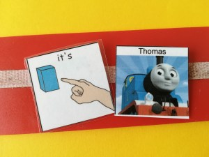 Thomas PECs card, Commenting with PECs